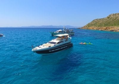 mydaycharter.com Mallorca Yachtcharter Conam Wasserspass Wasserlounge Bucht