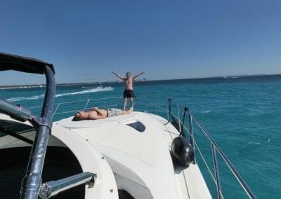 mydaycharter.com Mallorca Yachtcharter Pearl Bug Sonnendeck